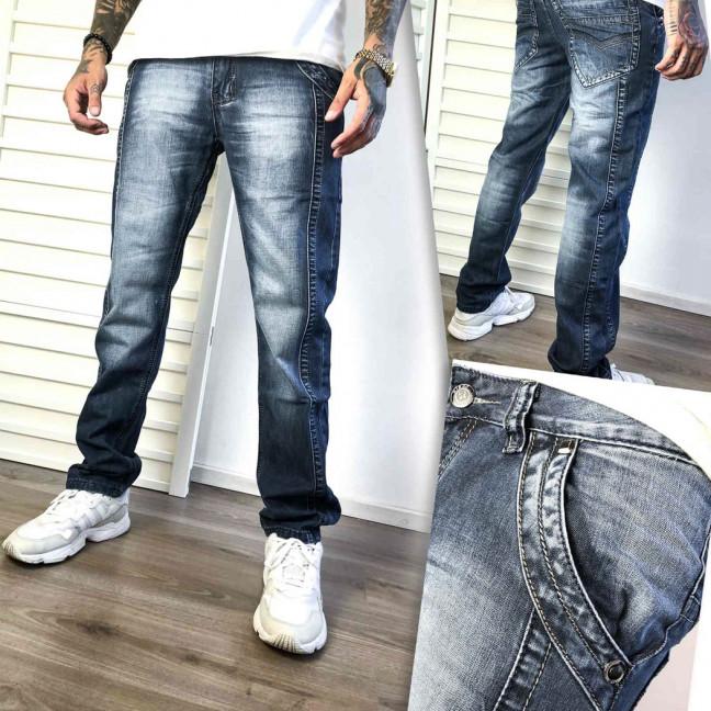 5833-3 Vigoocc джинсы мужские молодежные серо-синие с декоративной отделкой осенние коттоновые (28-34, 7 ед.) Vigoocc: артикул 1113160