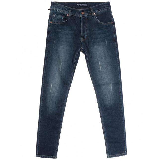 2053 Oldtime джинсы мужские с царапками синие осенние стрейчевые (29-38, 8 ед.) OLDTIME: артикул 1113731
