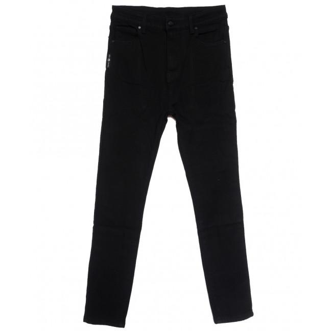 0575 New Jeans американка батальная на флисе черная зимняя стрейчевая (31-36, 6 ед.) New Jeans: артикул 1113802