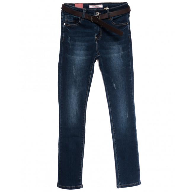 1852 M.Sara джинсы женские полубатальные с царапками синие осенние стрейчевые (27-32, 6 ед.) M.Sara: артикул 1113485