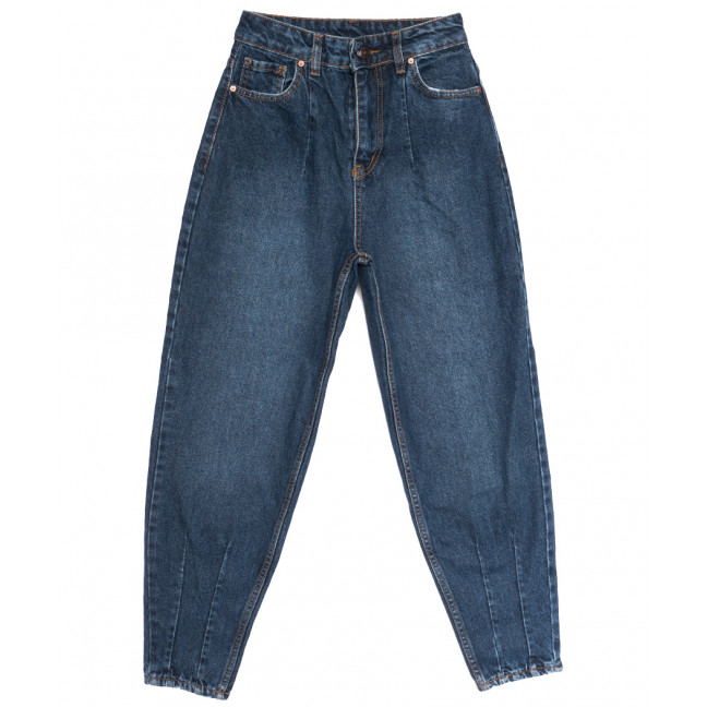 3665 джинсы-баллон синие осенние коттоновые (25-32, 8 ед.) Джинсы: артикул 1114046