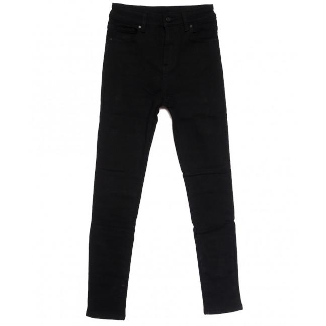 0562 New Jeans американка на флисе черная зимняя стрейчевая (25-30, 6 ед.) New Jeans: артикул 1113832