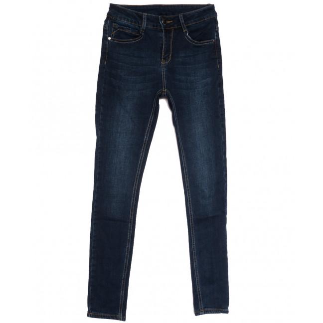 0156 (0156L) Lelena джинсы женские на байке синие зимние стрейчевые (25-30, 6 ед.) Lelena: артикул 1114466