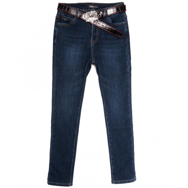 6252 Like джинсы женские полубатальные на флисе синие зимние стрейчевые (28-33, 6 ед.) Like: артикул 1114394