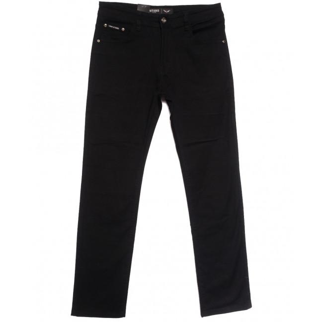 7051 Vitions джинсы мужские полубатальные черные осенние стрейчевые (32-38, 8 ед.) Vitions: артикул 1113623
