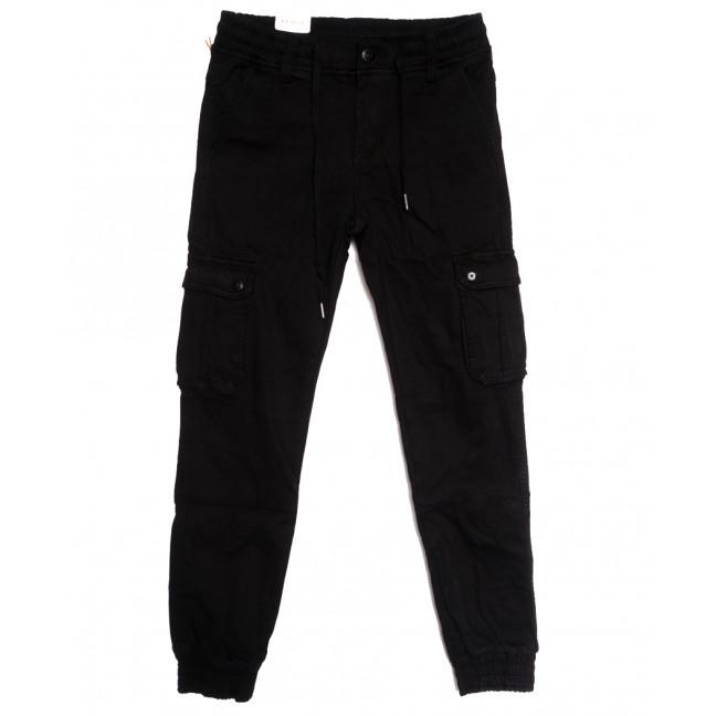 8382 Reman брюки карго мужские молодежные на флисе черные зимние стрейчевые (28-36, 8 ед.) Reman: артикул 1115070
