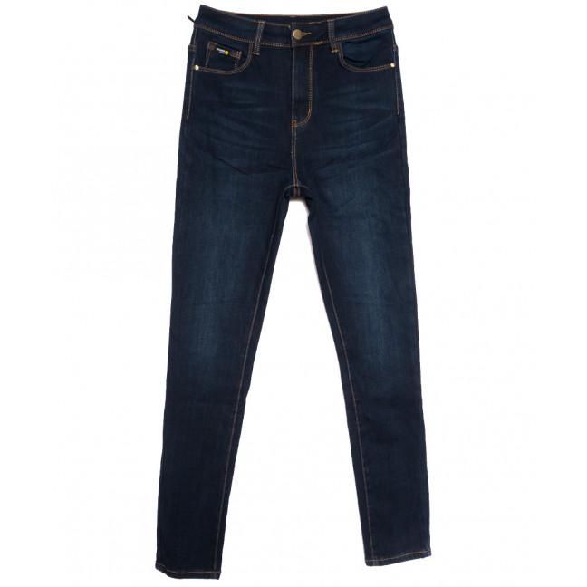 0592 New Jeans американка полубатальная на флисе синяя зимняя стрейчевая (28-33, 6 ед.) New Jeans: артикул 1113809