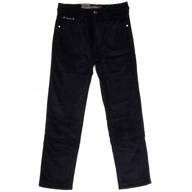 89025 LS брюки мужские вельветовые на флисе темно-синие зимние стрейчевые (30-40, 8 ед.) LS: артикул 1114595
