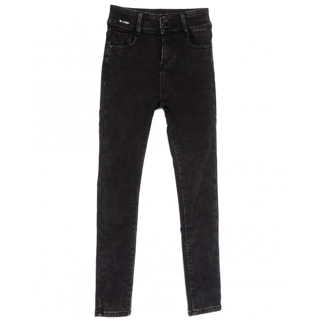 0585 New Jeans американка на флисе темно-серая зимняя стрейчевая (25-30, 6 ед.) New Jeans: артикул 1113826