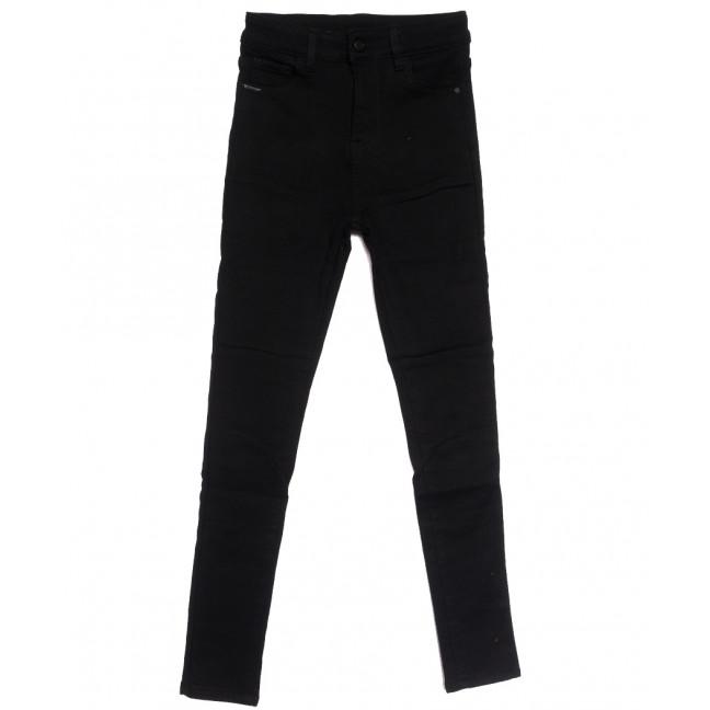 0563 New Jeans американка на флисе черная зимняя стрейчевая (25-30, 6 ед.) New Jeans: артикул 1113833