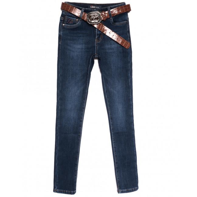 6251 Like джинсы женские на флисе синие зимние стрейчевые (25-30, 6 ед.) Like: артикул 1114395