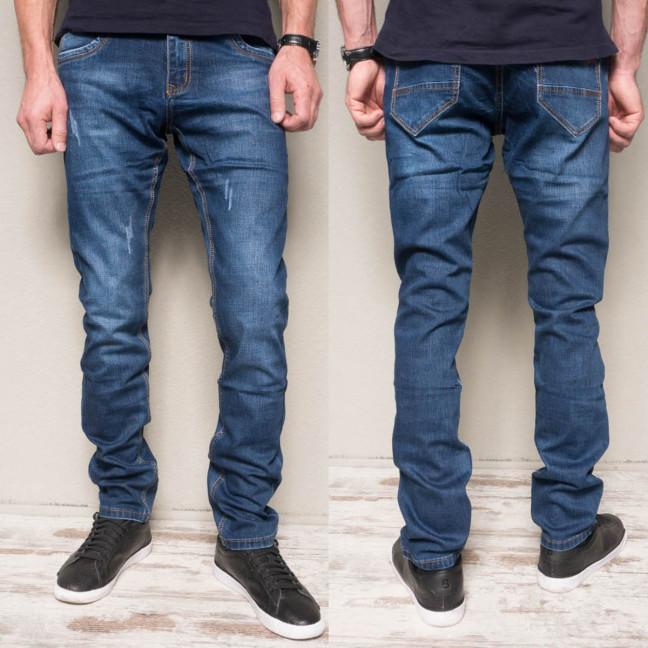 8381-02 Vingvgs джинсы мужские молодежные синие с царапками осенние стрейчевые (27,27,29,32, 4 ед.) Vingvgs: артикул 1114642