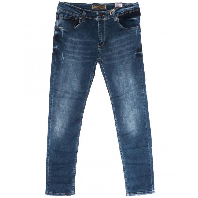 7088 Fashion Red джинсы мужские полубатальные с царапками синие осенние стрейчевые (32-40, 8 ед.) Fashion Red: артикул 1114028