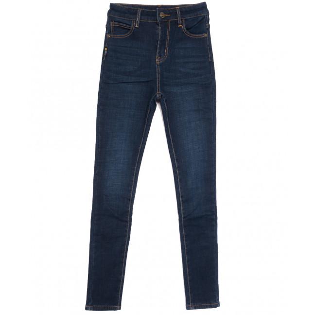 0587 New Jeans американка на флисе синяя зимняя стрейчевая (25-30, 6 ед.) New Jeans: артикул 1113800