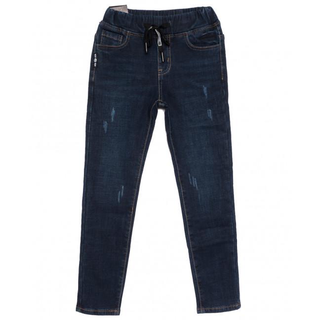 0606 Little Star джинсы на мальчика на флисе с царапками  синие зимние стрейчевые (23-28, 6 ед.) Little Star: артикул 1113837