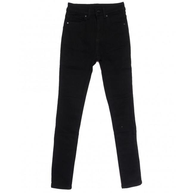 0581 New Jeans американка на флисе черная зимняя стрейчевая (25-30, 6 ед.) New Jeans: артикул 1113797