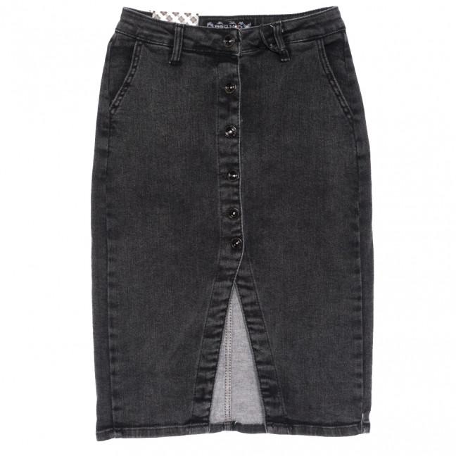 0590 Redmoon юбка джинсовая полубатальная на пуговицах серая осенняя стрейчевая (28-33, 6 ед.) REDMOON: артикул 1114001