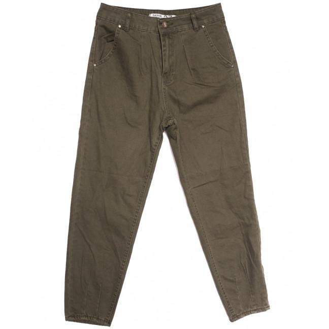 3280 Sasha джинсы-баллон хаки осенние коттоновые (26-31, 8 ед.) Sasha: артикул 1114043