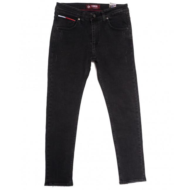 7155 Corcix джинсы мужские с царапками темно-серые осенние стрейчевые (29-36, 8 ед.) Corcix: артикул 1113414