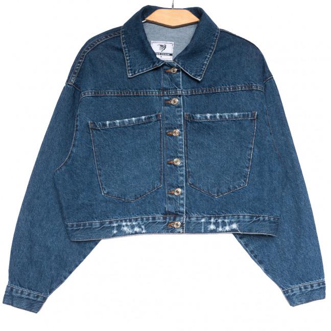 0105 YMR куртка джинсовая женская синяя осенняя коттоновая (S-XL, 4 ед.) YMR: артикул 1113684