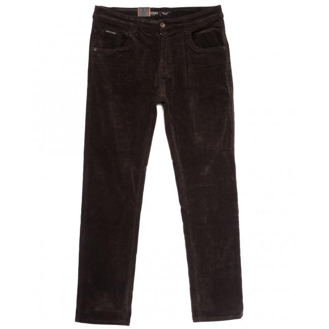 7026 (7026D) Vitions брюки мужские вельветовые полубатальные коричневые осенние стрейчевые (32-42, 8 ед.) Vitions: артикул 1114234