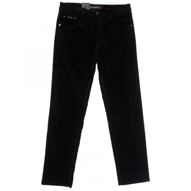 8810 (8810В) LS брюки мужские вельветовые полубатальные черные осенние стрейчевые (32-40, 8 ед.) LS: артикул 1114243