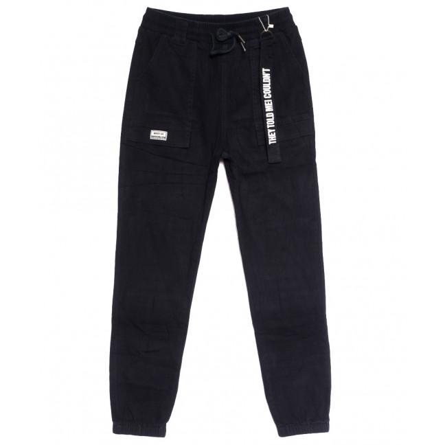 0706 (706L) темно-синие Forest Jeans джоггеры женские полубатальные осенние стрейчевые (28-33, 6 ед.) Forest Jeans: артикул 1113239
