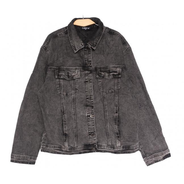 1625 Lady N куртка джинсовая женская серая осенняя стрейчевая (L-4XL, 6 ед.) Lady N: артикул 1114185