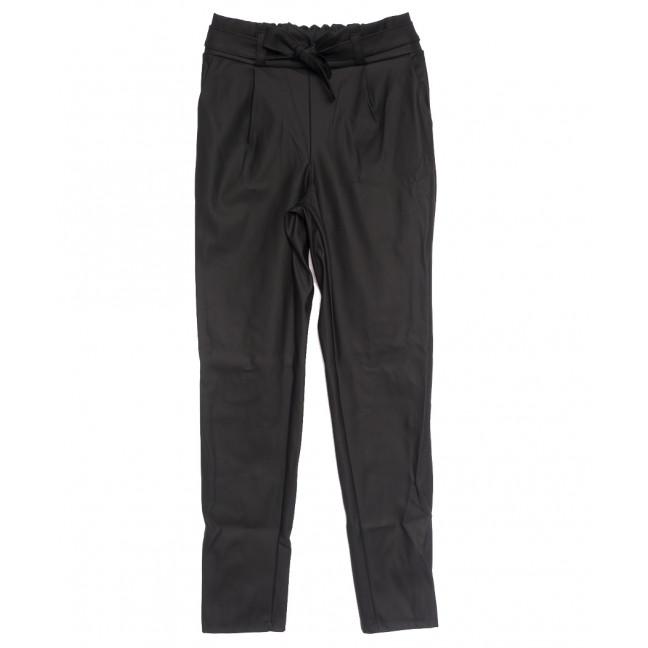 0019 черные Exclusive брюки женские из кожзама осенние стрейчевые (42-48,норма, 4 ед.) Exclusive: артикул 1114618