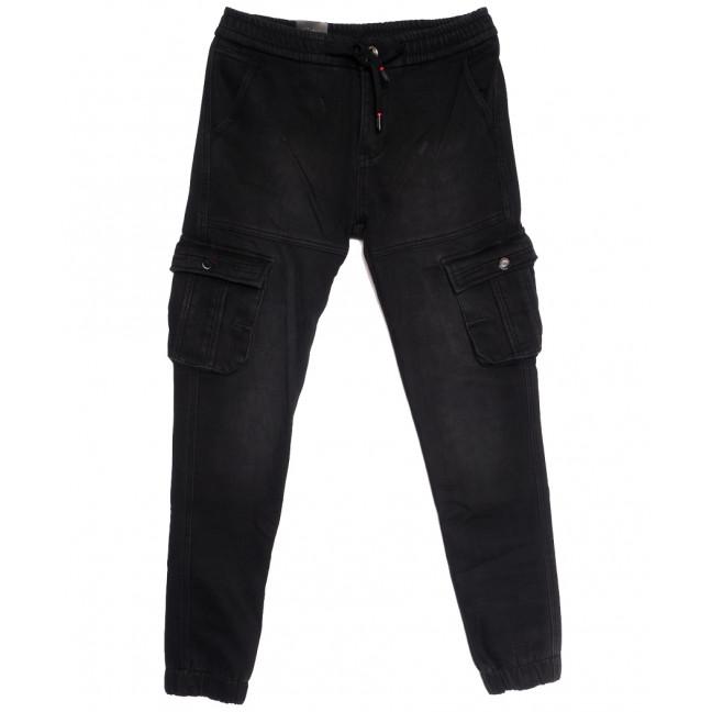 5113 (5113А) Vitions брюки карго мужские на флисе черные зимние стрейчевые (30-38, 8 ед.) Vitions: артикул 1114583