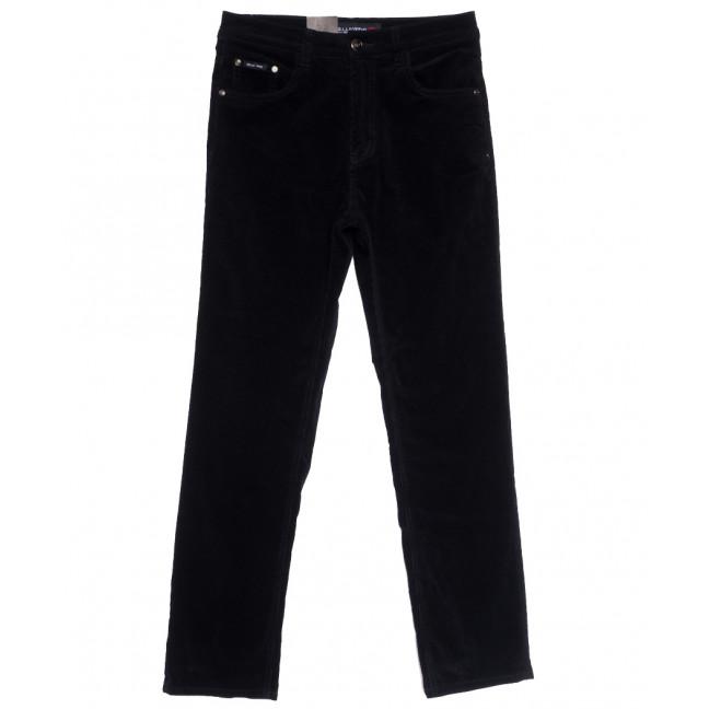 8811 LS брюки мужские вельветовые темно-синие осенние стрейчевые (30-38, 8 ед.) LS: артикул 1114238