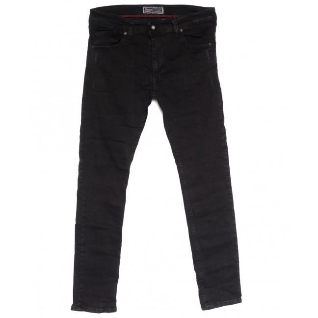 7179 Fashion Red джинсы мужские полубатальные с царапками темно-серые осенние стрейчевые (32-40, 8 ед.) Fashion Red: артикул 1113735