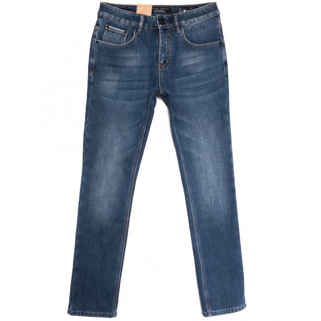 2307 Fang джинсы мужские на флисе синие зимние стрейчевые (29-36, 6 ед.) Fang: артикул 1114399