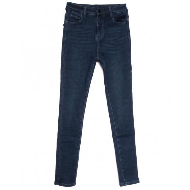 0613 New Jeans американка на флисе синяя зимняя стрейчевая (25-30, 6 ед.) New Jeans: артикул 1113807