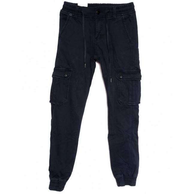 8384 Reman брюки карго мужские молодежные на флисе темно-синие зимние стрейчевые (28-36, 8 ед.) Reman: артикул 1115068