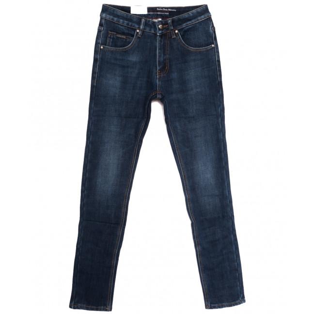 9372 God Baron джинсы мужские молодежные на флисе синие зимние стрейчевые (27-34, 8 ед.) God Baron: артикул 1114429