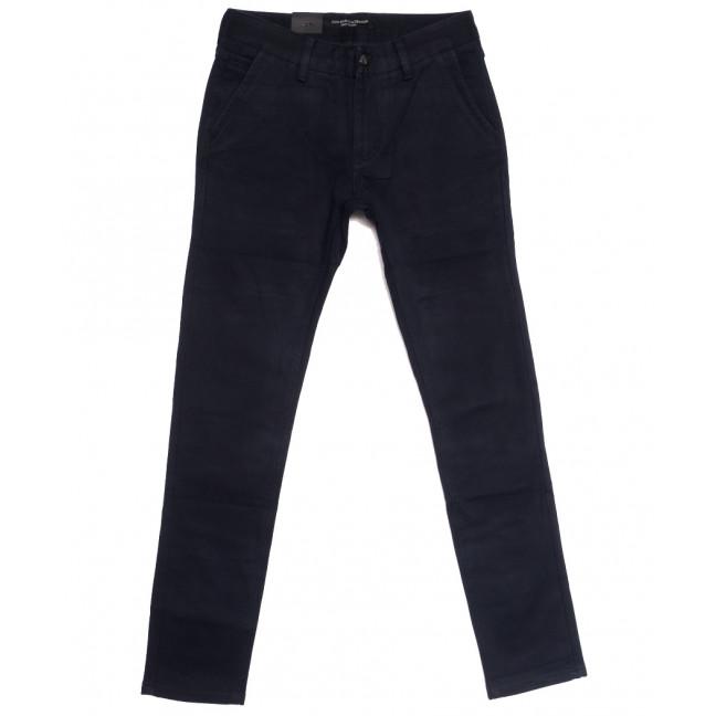 8691 God Baron джинсы мужские молодежные на флисе темно-синие зимние стрейчевые (28-36, 8 ед.) God Baron: артикул 1114422
