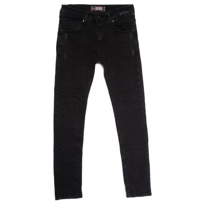 7169 Blue Nil джинсы мужские с царапками темно-серые осенние стрейчевые (29-36, 8 ед.) Blue Nil: артикул 1113412
