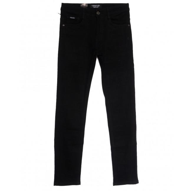 3873 (CR3873) Crossness джинсы мужские молодежные черные осенние стрейчевые (28-34, 8 ед.) Crossness: артикул 1113221