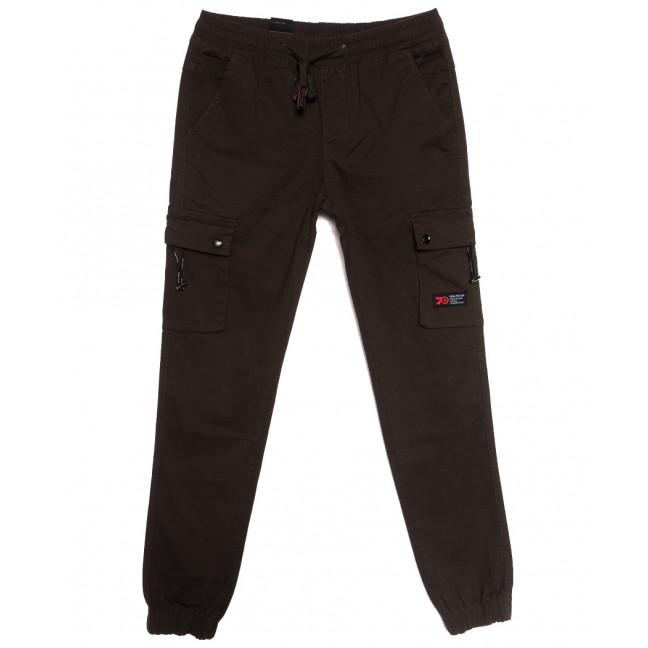 7040 (7040А) Vitions джинсы мужские молодежные на резинке коричневые осенние стрейчевые (27-34, 8 ед.) Vitions: артикул 1113607
