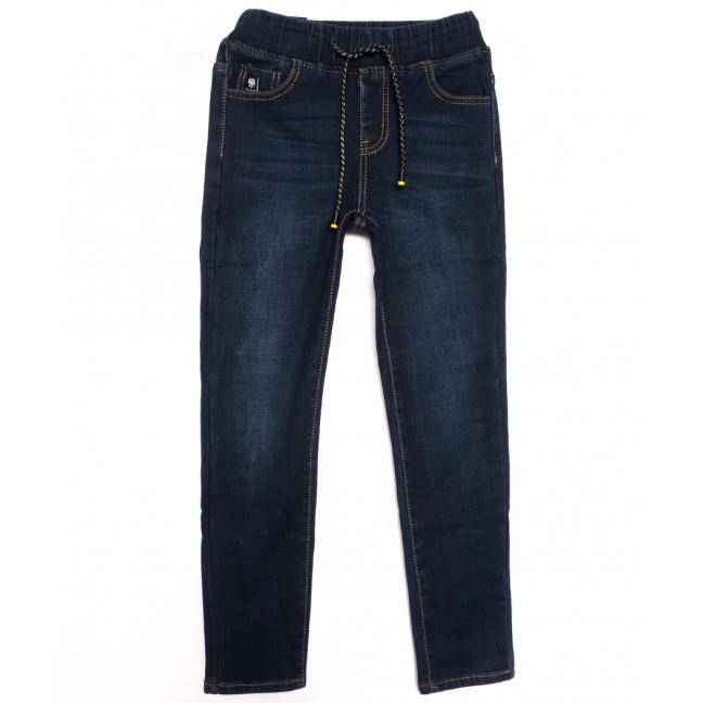 0608 Little Star джинсы на мальчика на флисе с царапками  синие зимние стрейчевые (23-28, 6 ед.) Little Star: артикул 1113839