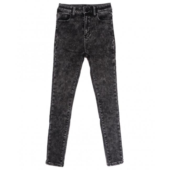 0576 New Jeans американка на флисе серая зимняя стрейчевая (25-30, 6 ед.) New Jeans: артикул 1113825