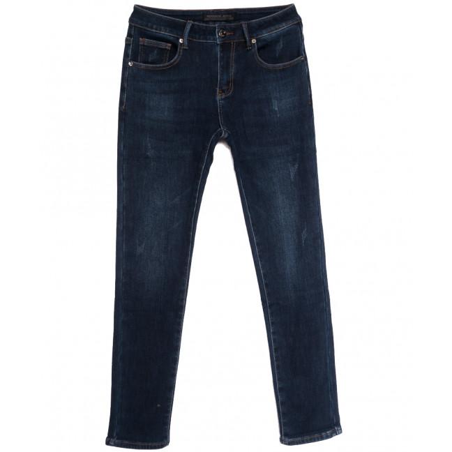 26777 Reigouse джинсы мужские на флисе с царапками синие зимние стрейчевые (29-38, 8 ед.) REIGOUSE: артикул 1114685