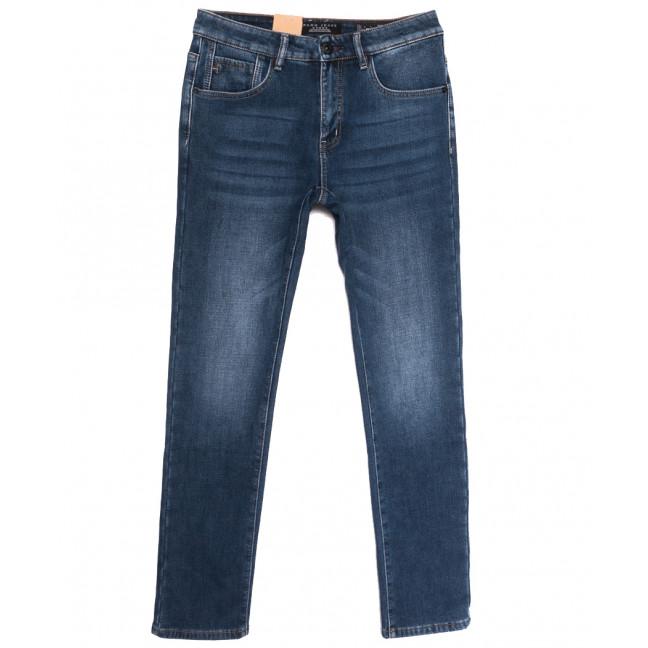 2311 Fang джинсы мужские на флисе полубатальные синие зимние стрейчевые (32-42, 8 ед.) Fang: артикул 1114402
