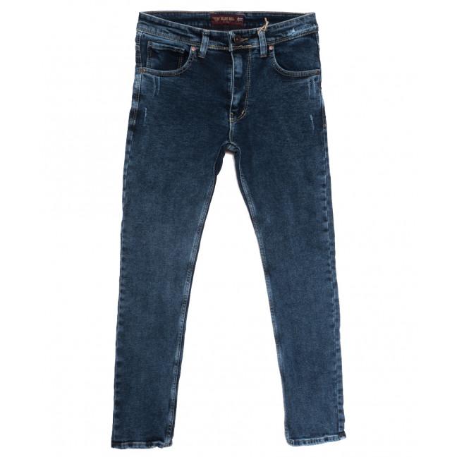 7262 Blue Nil джинсы мужские полубатальные с царапками синие осенние стрейчевые (32-40, 8 ед.) Blue Nil: артикул 1115595