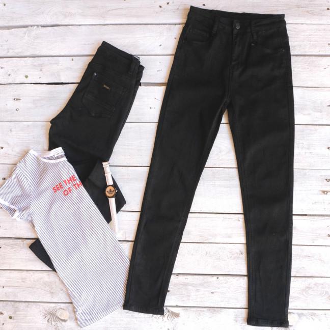0128 Lelena джинсы женские зауженные черные осенние стрейчевые (25-30, 6 ед.) Lelena: артикул 1103610