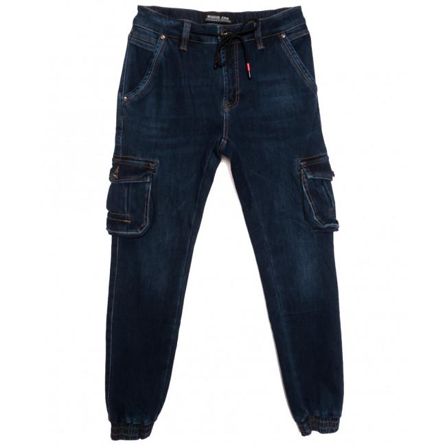 31777 Reigouse джинсы мужские на резинке на флисе синие зимние стрейчевые (30-40, 8 ед.) REIGOUSE: артикул 1115717