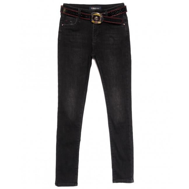 6246 Like джинсы женские на байке серые зимние стрейчевые (25-30, 6 ед.) Like: артикул 1115282