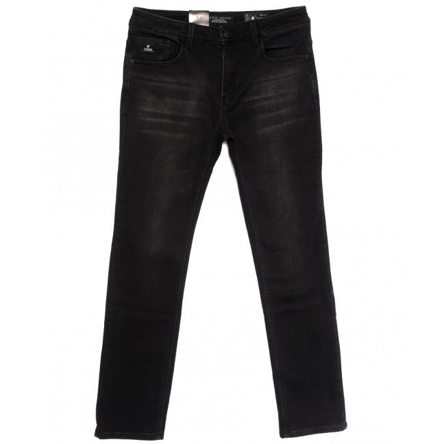 2301 Fang джинсы мужские полубатальные на байке черные зимние стрейчевые (32-40, 8 ед.) Fang: артикул 1115284