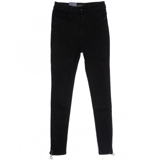 5451 Gallop джинсы женские на байке черные зимние стрейчевые (25-30, 6 ед.) Gallop: артикул 1115224